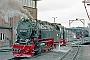"""LKM 134012 - HSB """"99 7235-7"""" 09.02.1998 - Wernigerode, Bahnbetriebswerk HSBRalph Mildner (Archiv Stefan Kier)"""