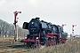 """O&K 14066 - Dampflokfreunde Berlin """"52 8177-9"""" 27.03.1999 - Güsten, RangierbahnhofRalph Mildner (Archiv Stefan Kier)"""