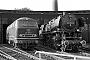 """SFCM 4302 - DB  """"044 953-8"""" 12.10.1975 - Gelsenkirchen-Bismarck, BahnbetriebswerkMichael Hafenrichter"""